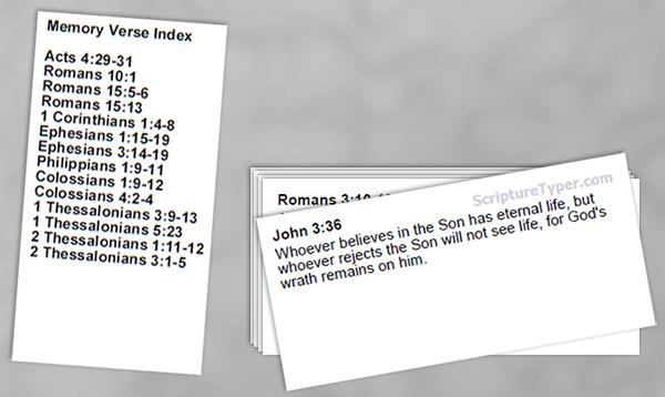 Free Bible Memory System Scripture Typer